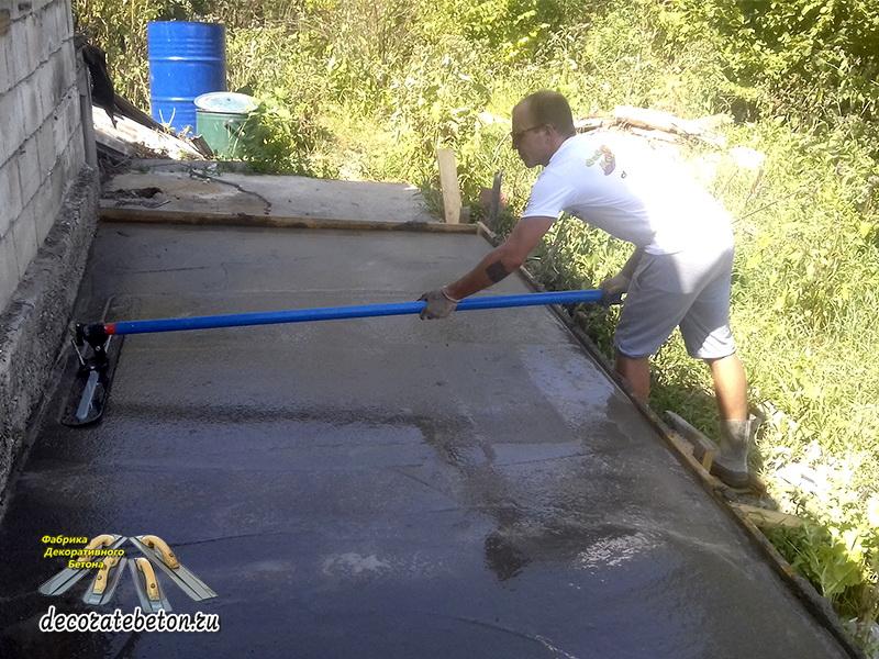Укладка декоративного бетона краснотурьинск бетон купить