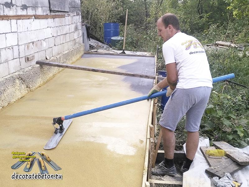 Финишной бетон что лучше блоки из керамзитобетона или газобетона